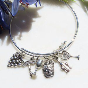 Wine Charms Bangle